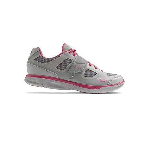 Giro Whynd Damen Sport / Fitness Fahrrad Schuhe silber/rosa 2016: Größe: 39