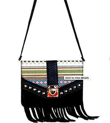 FASHIONABLE BLACK SHOULDER BAG WITH MOBILE PHONE COMPARTMENT
