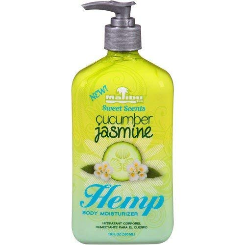 Malibu Tans Sweet Scents Hemp Body Moisturizer - Cucumber Jasmine 18 oz