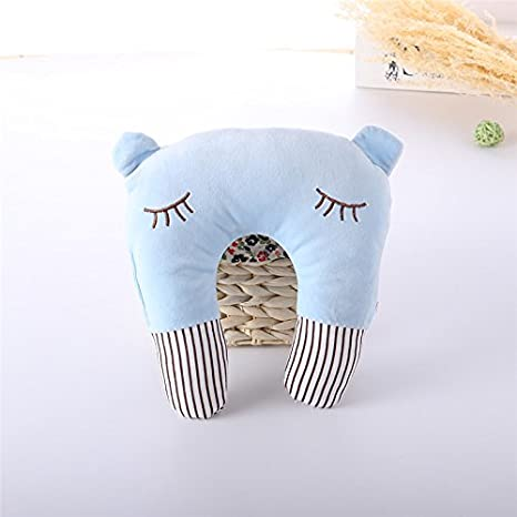 Pink Fish Moonvvin Cute Fish Cotton Soft Newborn Baby Prevent Flat Head Pillow Support