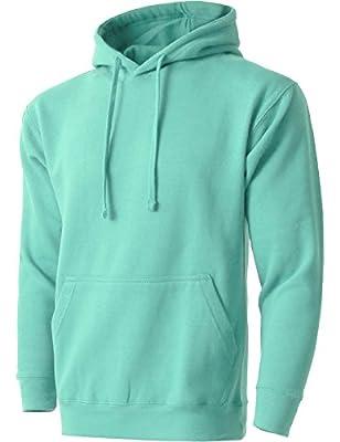 MA Mens Fleece Pullover Heavyweight Hoodie Sweatshirts Active Jackets
