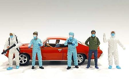 Hazmat Crew 6 Piece Figurine Set for 1/18 Scale Models by American Diorama 76267-76268-76269-76270-76271-76272