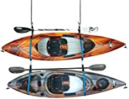 Double Kayak Storage Strap System - For Indoor and Outdoor Kayak & SUP Paddle Board Hangers - Comes with p