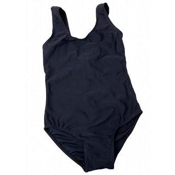 c72176da6be Childrens/Kids Girls Plain Black Swimming Costume/Swimsuit (8-9 years)