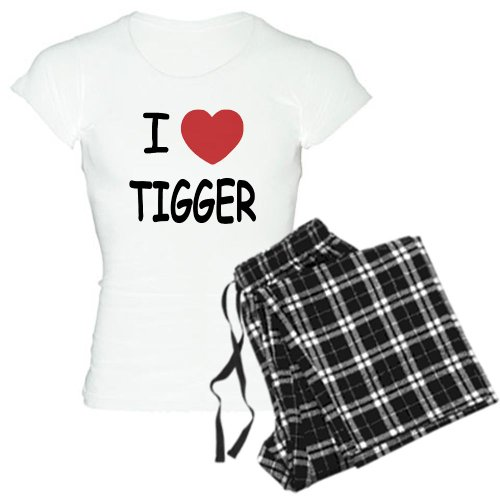 CafePress - I heart tigger Women's Light Pajamas - Womens Novelty Cotton Pajama Set, Comfortable PJ Sleepwear