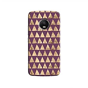 Cover It Up - Brown Purple Triangle Tile Moto G5 Hard Case