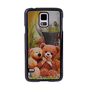 TOPQQ Teddy Bear 3D Plastic Phone Case for Samsung S5 I9600