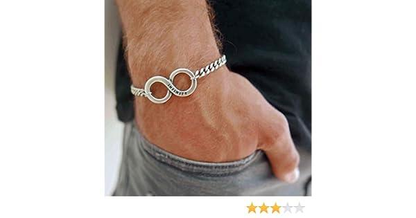 Jewelry For Men Handmade Stainless Steel Chain Bracelet For Men Set With Stainless Steel Infinity Pendant By Galis Jewelry Infinity Bracelet For Men Friendship Bracelet