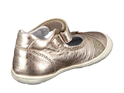 Romagnoli 8488-287 Kinder Lauflern-Spangenschuh in Mittel Gold