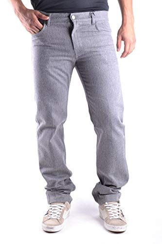 Marc Jacobs Men's Mcbi11003 Grey Cotton Pants
