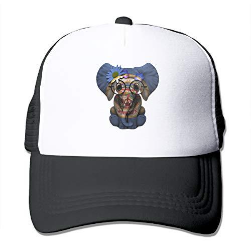 Minnesota Flag MN Classic Trucker Hat Adjustable Baseball Cap for Men and Women Black -
