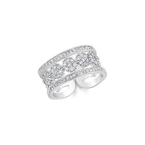 Beauty Elites Diamond Band with Five Round Shape Diamond - Adjustable Size 7-9