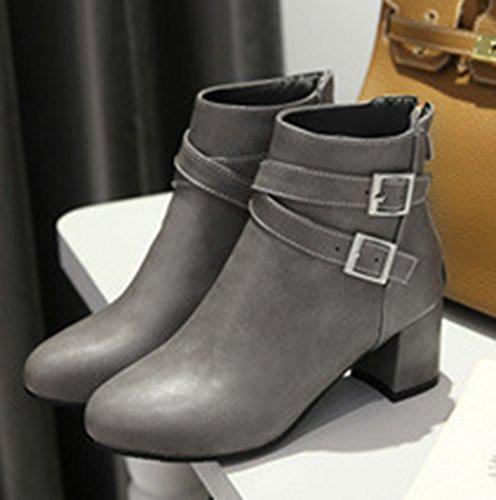 Boots Boucles Femme Talon Avec Bloc Bottes Fashion Low Aisun Martin qgaHzvO
