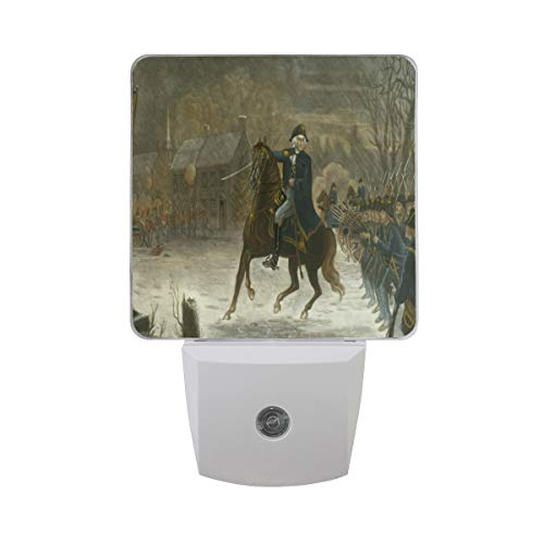 Night Light George Washington's Biography Led Light Lamp for Hallway, Kitchen, Bathroom, Bedroom, Stairs, DaylightWhite, Bedroom, Compact