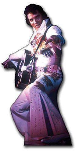Star Star Star Cutouts Pappaufsteller von Elvis in JUMP Suit (weiß) 6a6bae