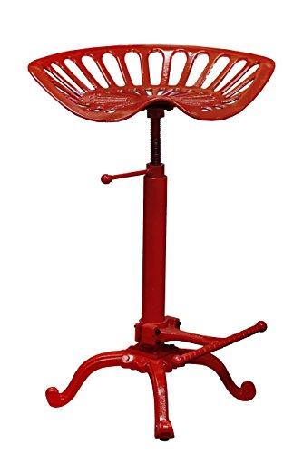 NACH JS-93-800R Adjustable Tractor Seat Stool, Red (Furniture Carolina Rustic)