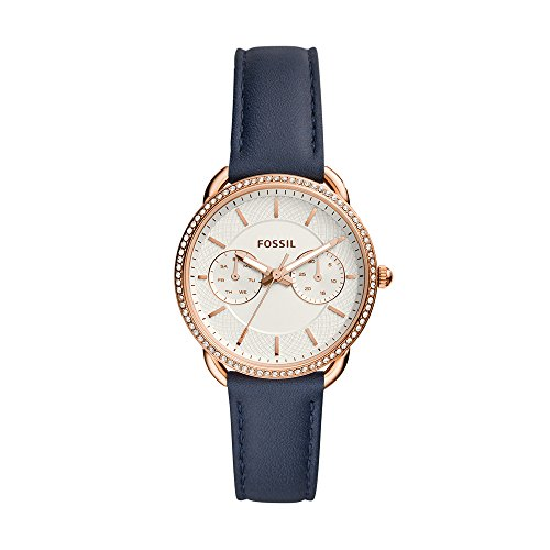 Fossil Women's ES4394 Tailor Analog Display Analog Quartz Blue Watch