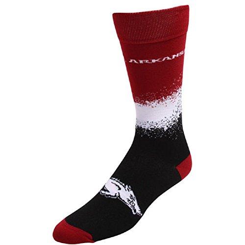 For Bare Feet NCAA Marquee Crew Socks- Size -Large(10-13)-Arkansas Razorbacks ()