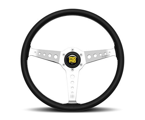 Leather Prototipo - MOMO Steering Wheel Heritage California 360mm Chrome Spokes New 2017 CAL36BK2S