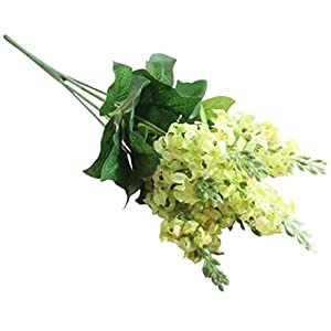 Transer 7 Heads Hyacinth Artificial Silk Fake Flower Leaf Home Decor Bridal Bouquet 92