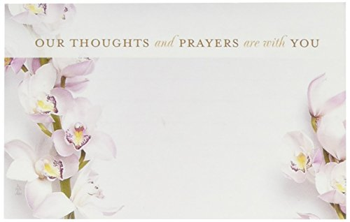 John Henry Enclosure Card Our Thoughts and Prayers and with You 50 (Floral Enclosure Cards)
