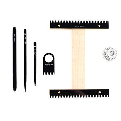 Weaving Loom Kit by One-OneThousand. I Loom Kit, Weaving Loom, Weaving Supplies, Learn to Weave, (Black) -