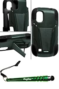 ZTE Z992 Prelude Hybrid Case w Stand Black and FoxyCase stylus cas couverture
