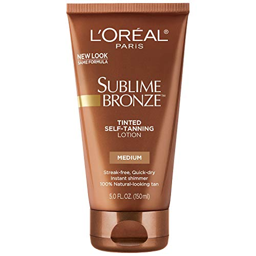 Bronze Gradual Self Tanning Lotion - L'Oreal Paris Sublime Bronze Tinted Self-Tanning Lotion Medium Natural Tan 5 fl. oz.