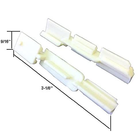Sliding Shower Door Bottom Sill Guide - Pack of 2 - Shower Door Bottom Guide