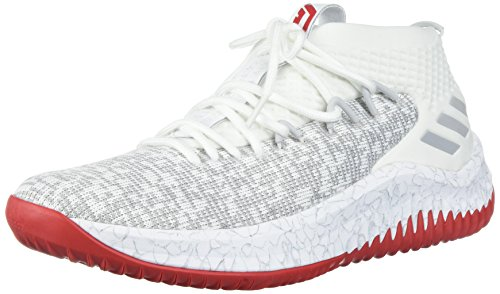 free shipping footlocker finishline cheap free shipping Adidas Dame 4 Shoe Men's Basketball Cloud White / Grey / Scarlet cheap browse cheap amazing price 1ag32ri