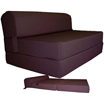 Brown Sleeper Chair Folding Foam Bed Sized 6 Thick X 32 Wide 70