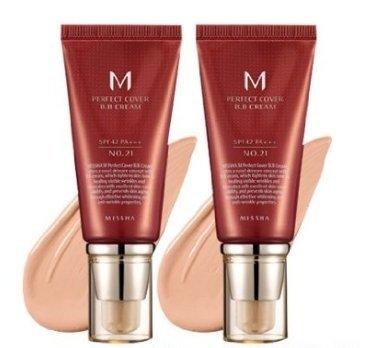 Missha M Perfect Cover Bb Cream SPF 42 Pa Plus # 21, facial make up, brightening, UV protection, K-b