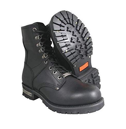 - Xelement 1446 'Vigilant' Men's Black Logger Boots with Inside Zipper - 10