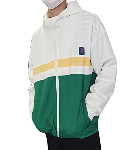 Green Weight Mogogo Windproof Zip Men's Ultra Breathable up Overcoat Light wpgzwqT