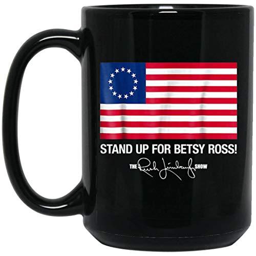rush betsy ross limbaugh t-shirt T-Shir (Mug 15oz; Black; 15oz) (The Best Of Rush Limbaugh)