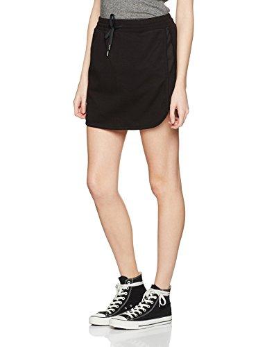 Benetton Jersey Skirt with Tie Waist, Falda para Mujer Negro (Black)