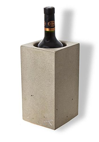 Angle 33 - Thermal Wine Cooler Chiller - Unique Personalized Wine Accessories for Women or Men - Single Red or White Wine Bottle Cooler Chiller Bucket - Made of Stone Concrete - Handcrafted in USA (Personalized Wine Cooler)