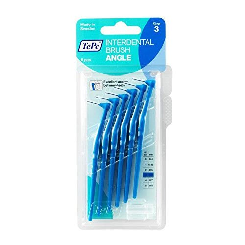 TePe Size 3 06 Mm Interdental Brush Angle Pack Of 4 Total 24 0.6Mm