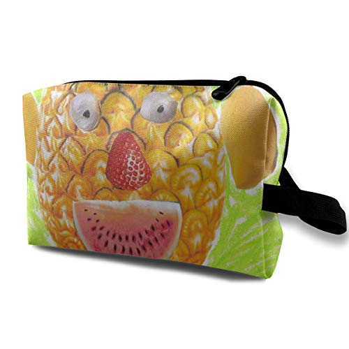 Cartoon Pineapple Cute Colour Painting Halloween Multi-function Travel Makeup Toiletry Coin Bag Case -