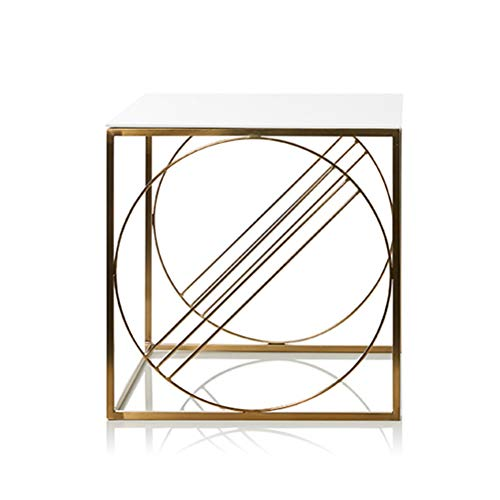 (End Tables Simple Creative Square Table Modern Wrought Iron Corner Display Rack No Assembly Required 0702 (Size : 45X45X45CM))