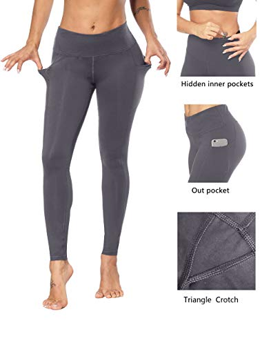 Fengbay High Waist Yoga Pants, Pocket Yoga Pants Tummy Control Workout Running 4 Way Stretch Yoga Leggings by Fengbay (Image #2)