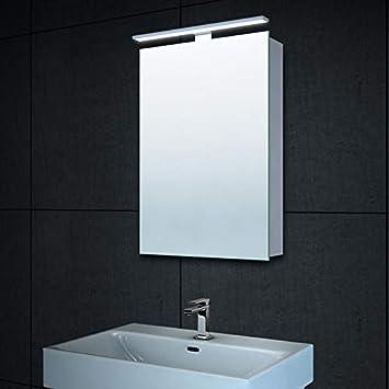 Amazonde Lux Aqua Alu Led Beleuchtung Gäste Wc Spiegelschrank