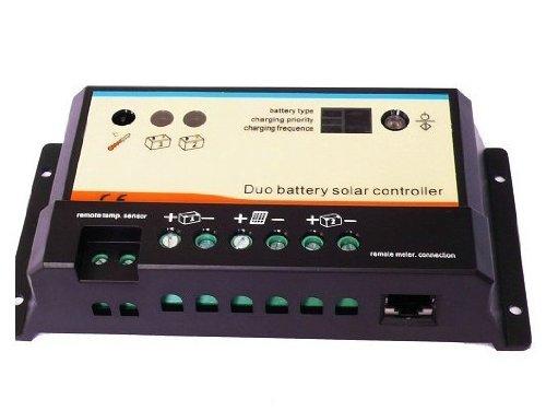 RioRand (TM) RREPIPDB-20A12V24V Solar Charge Controller Regulator Dual Battery - Controller