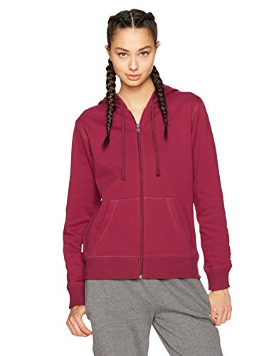 Starter Women's Zip-Up Hoodie, Amazon Exclusive, Team Maroon, Large