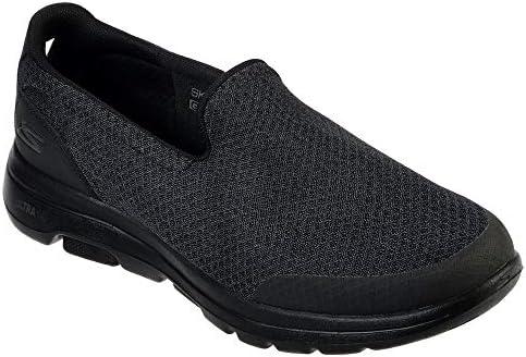 SKECHERS GO WALK 5 Mens Shoes, Black (Black), 6.5 UK (40 EU