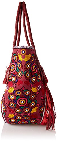 Antik Batik Nally Cabas - Borse Tote Donna, Rouge (Burgundy), 20x35x50 cm (W x H L)