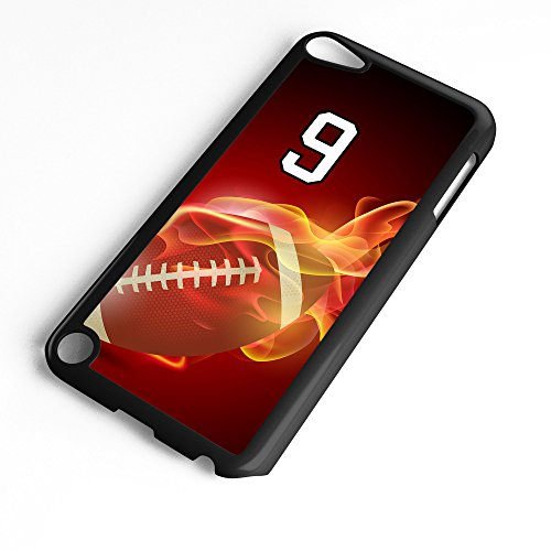- iPod Touch Case Fits 6th Generation or 5th Generation Football #0600 Choose Any Player Jersey Number 9 in White Plastic Customizable by TYD Designs
