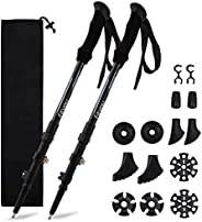 Fityou Nordic Walking Trekking Poles - 2 Pack Aluminum Metal Stick with Antishock and Quick Lock System, Adjus