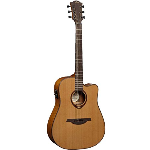 LAG T200DCE Stage Series Dreadnought Cutaway Acoustic-Electric Guitar -  Korg USA Inc.