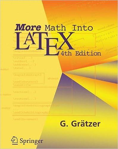 More Math Into Latex 4th Edition Pdf